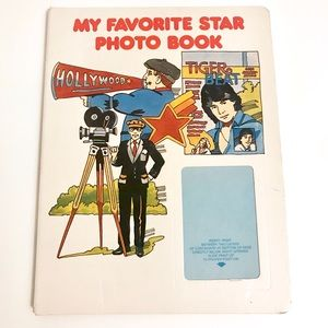 Vintage 1980's celebrity illustrations photo album
